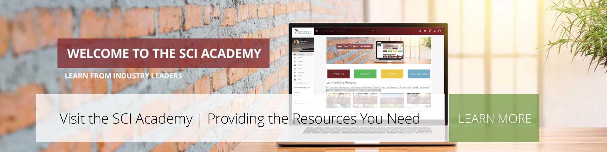 SCI ACADEMY – New slider banner image for main website